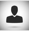 user icon black silhouette symbol on gray vector image