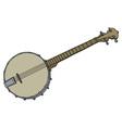 Vintage four strings banjo vector image