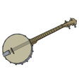 Vintage four strings banjo vector image vector image