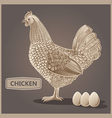 Vintage hen design vector image vector image