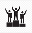 winners business people on pedestal icon vector image vector image