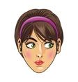 woman with purple headband vector image