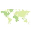 world globe map vector image