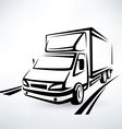 mini van outlined sketch isolated symbol vector image