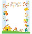 Kindergarten Preschool Kids Objects Frame