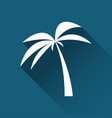 simple palm tree icon travel and holiday symbol vector image