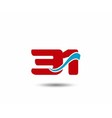 30 anniversary wave logo vector image vector image