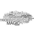 a bit of the history of magic text word cloud vector image vector image