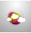 Abstract blurred colorful clouds vector image vector image