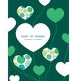 abstract green circles heart symbol frame vector image vector image