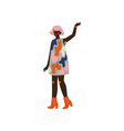african american woman with hairy armpits female vector image vector image