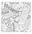 aikido technique weapon Word Cloud Concept vector image vector image