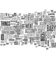 baby steps text word cloud concept vector image vector image