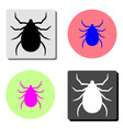 bug flat icon vector image