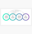 business process timeline infographics with 4 vector image vector image
