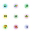Children rides icons set pop-art style vector image vector image