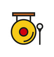 chinese gong hammer icon on white background vector image