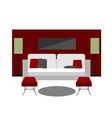 Color furniture living room flat icon vector image vector image