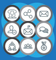 communication icons set with group delete vector image vector image