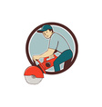 Construction Worker Concrete Saw Cutter Cartoon vector image vector image