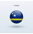 Curacao round flag vector image