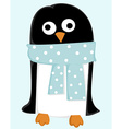 Cute cartoon penguin vector image vector image