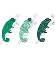 cute chameleons vector image vector image