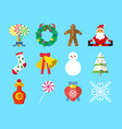 cute christmas graphic set vector image