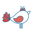 cute dove icon vector image vector image