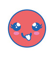 cute kawaii emoticon vector image