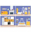 cute modern apartment interior - living room vector image