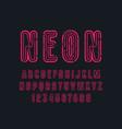 decorative contour sans serif font vector image
