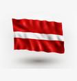 flag latvia vector image vector image