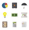 flat icon incoming set of bubl parasol diagram vector image vector image