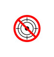 forbidden hunting icon on white background can be vector image vector image