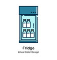 fridge lineal color icon vector image vector image