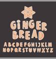 gingerbread alphabet set merry christmas vector image vector image