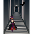 Gothic Stairs and Witch5 vector image vector image