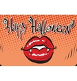 Happy Halloween mouth female vampire vector image vector image