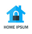 Home with Padlock Logo vector image vector image