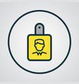 id badge colorful outline symbol premium quality vector image