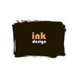 ink grunge square banner vector image vector image