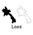 lao peoples democratic republic map vector image vector image
