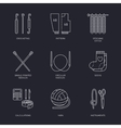 line icons collection of knitting and vector image vector image