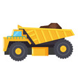 lorry used to transport cargo mining industry vector image