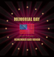 memorial day banner vector image vector image