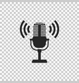 microphone icon isolated on transparent background vector image vector image