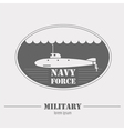 Military logo Navy force submarine Graphic vector image vector image