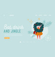 new year and christmas holidays website landing vector image vector image