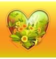 Orange yellow primroses vector image vector image